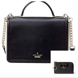 Kate Spade black Maisie Patterson & poppy wallet